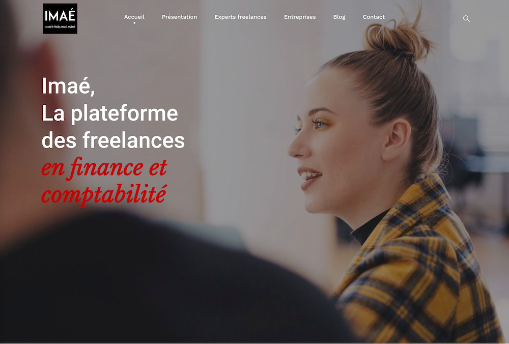 Site internet vitrine wordpress Imaé France plateforme d'experts freelances en finance et comptabilité